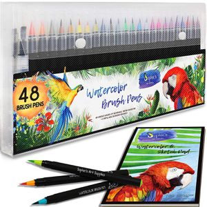 Premium Watercolor Real Brush Pens by Sophie's Art Supplies [48 Pack] for Sale in Montclair, CA