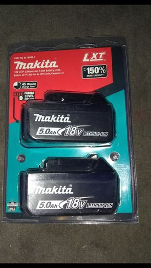 Makita 18v 5.0ah Batteries (2pk) for Sale in La Habra, CA