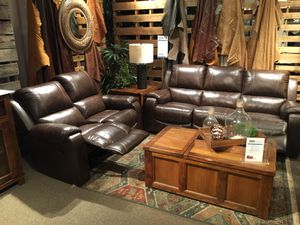 Real Leather Reclining Sectional Sofa & Loveseat, Brown for Sale in Norwalk, CA