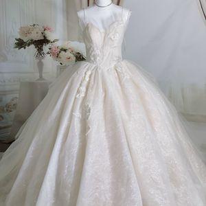 Luxury Bling Spaghetti Strap Light Blush Swan Fairy Princess Wedding Dress/ Quinceanera&Sweet 16 Dress for Sale in Fort Lauderdale, FL