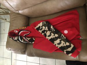 Hot Red camouflage bape hoodie for Sale in Pembroke Pines, FL