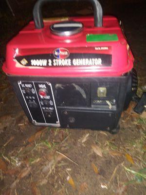 1000Watts 2 stroke generator for Sale in Plant City, FL