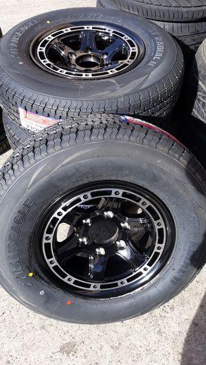 4 new wheels & tires 6 lugs trailers $600 for Sale in Los Angeles, CA