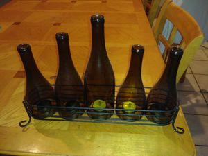 Wine bottle candle holder Wrought Iron base for Sale in Orlando, FL