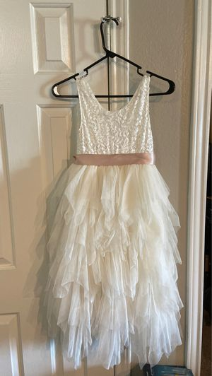 Flower Girl Dress and shoes: dress size 8/10, shoes size 2.5 for Sale in Wylie, TX