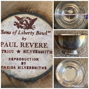 Sons of Liberty Bowl by Paul Revere. Reproduction by Oneida Silversmiths. for Sale in Antelope, CA