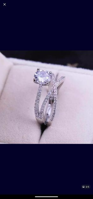 .925 sterling silver cz Diamond Ring size 7 for Sale in Prattville, AL