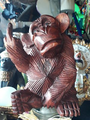 Cool carved wooden flipping monkey for Sale in Dunedin, FL