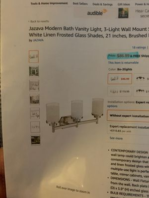 bathroom light fixture for Sale in San Marino, CA