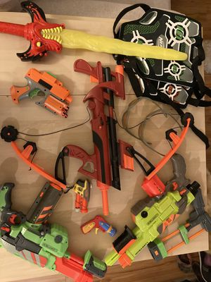 Nerf guns and extra ammo darts for Sale in Downey, CA