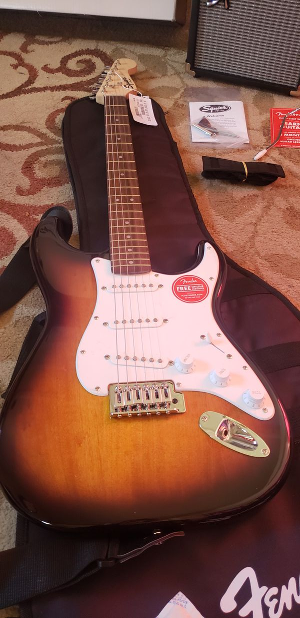 Fender by squier strat electric guitar