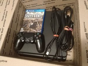 Sony Slim PS4 Playstation 4 with Days Gone $388.80 retail (will trade for Nintendo Switch) *FREE DELIVERY* for Sale in Fairview Park, OH