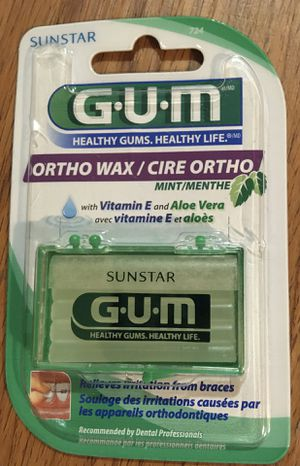 GUM Orthodontic Wax - Mint, with Vitamin E & Aloe for Sale in Lowell, MA