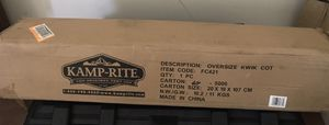 NEW UNOPENED Premium Kamp-Rite oversized Kwik Cot Camping for Sale in Riverview, FL