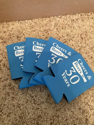 4 beer coozies for 30th birthday for Sale in Haddon Heights, NJ