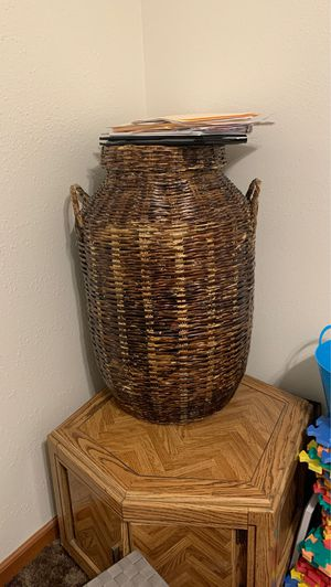 Woven basket for Sale in Claremont, CA
