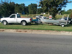 Ford Ranger pickup truck and Boat with trailer for Sale in Garysburg, NC