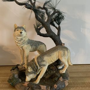 Collectible Wolves Drinking Water Sculpture for Sale in Norcross, GA