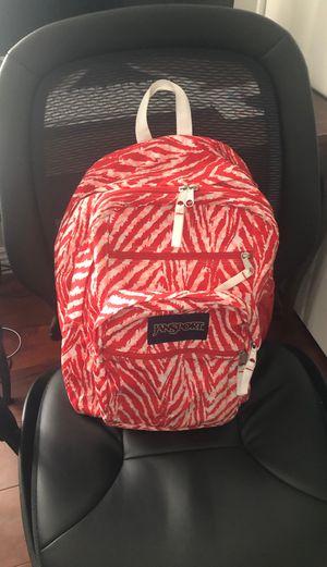 JANSPORT red/White multi pocket backpack school/Regular backpack for Sale in Los Angeles, CA