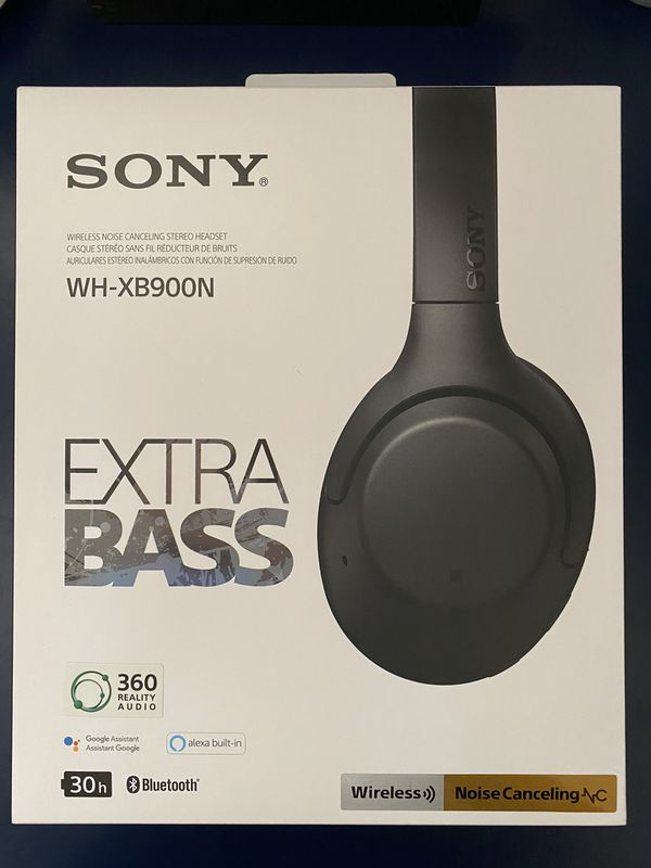 Sony Noise Cancelling Black Headphones WH-XB900N
