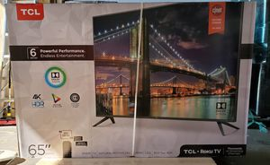 "TCL - 65"" Class - LED - 6 Series Smart 4K UHD TV + HDR Roku TV for Sale in North Miami, FL"