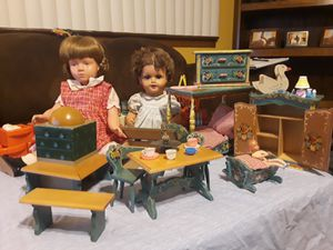 German vintage - antique toys -doll house for Sale in Fresno, CA