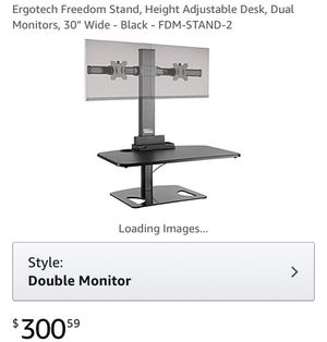 Adjustable standing desk w/dual monitor holders for Sale in Olney, MD