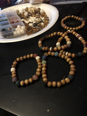 Lava stone diffuser aromatherapy bracelets for Sale in Denver, CO
