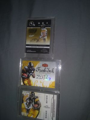Steelers certified autograph cards for Sale in Spring Hill, FL