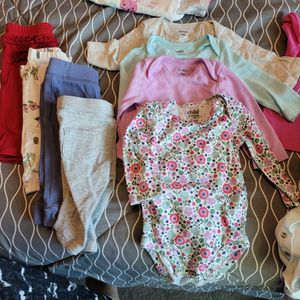0-3 Month Baby Girl Clothes Bottles Stage 1,unopened Gas Releif for Sale in Palo Alto, CA