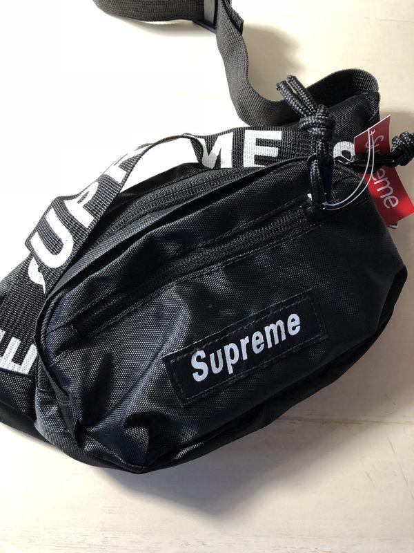 >> New Black Supreme Waist Bag Fanny Pack <<