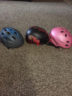 FREE 3 Kids bike helmets .MUST GO before Aug. for Sale in Nottingham, MD
