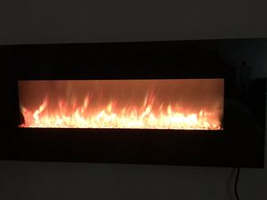 """Northwest 50"""" Electric Fireplace with heater (like new) for Sale in Carlsbad, CA"""