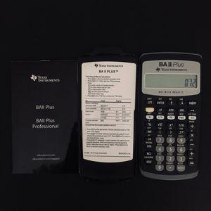 TI BAII Plus Calculator for Sale in Miami, FL