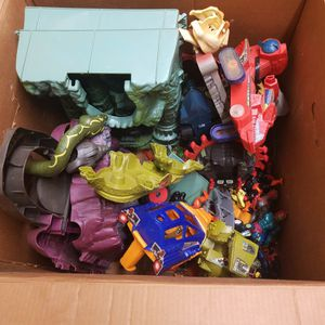 Box of Various Masters Of The Universe Figures & Playsets for Sale in Port Charlotte, FL
