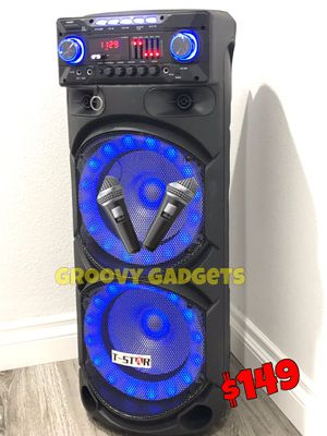 2 Wireless 🎤 Included • Mucho Party 🌟 Bluetooth - Usb - Aux - Radio • Karaoke 🌟 9,000 Watts* of Music & Bass for Sale in Los Angeles, CA