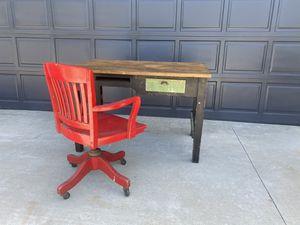 Solid antique world war 2 desk for Sale in Orange, CA