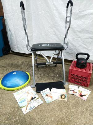 Ladies Home Fitness Gym - Malibu Pilates Chair, Bosu Sport Balance Ball and Apex Adjustable Kettlebell for Sale in Fairfax, VA