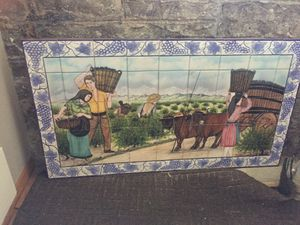 Portuguese tile picture of Vineyard workers. for Sale in Chicago, IL