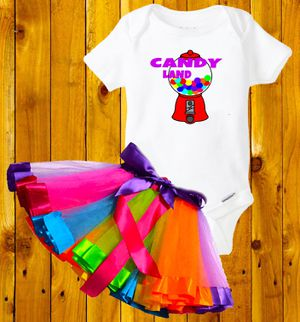 Candy land party outfit 24 months for Sale in Bloomington, CA
