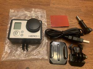 GoPro Hero 3 White w/ mount & lens cover for Sale in Holbrook, NY