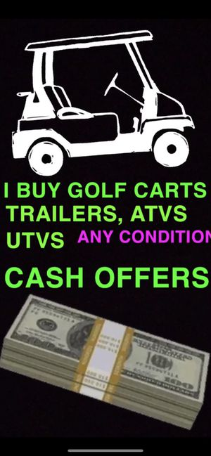Golf carts trailers batteries marine rv boat car auto electric gas new used 36 volt 48 volt ezgo club car Yamaha 2p 4p 6p 8p street legal golf cart g for Sale in Miami, FL