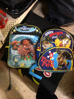 Moana and paw patrol almost new backpack for Sale in Garden City, MI