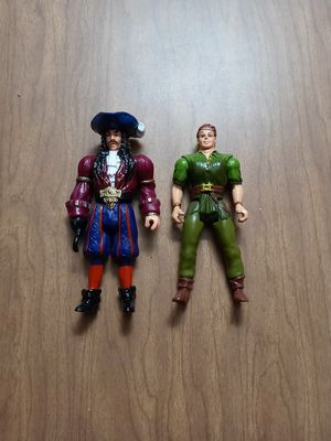 1991 Tri Star Pictures HOOK Movie Action Figures Hook & Peter Pan for Sale in West Chicago, IL