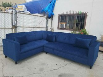 NEW 7X9FT BARCELONA NAVY FABRIC SECTIONAL COUCHES for Sale in El Monte,  CA