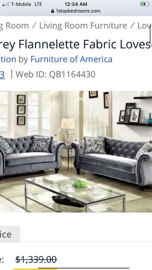 Grey couch set for Sale in Highland, CA