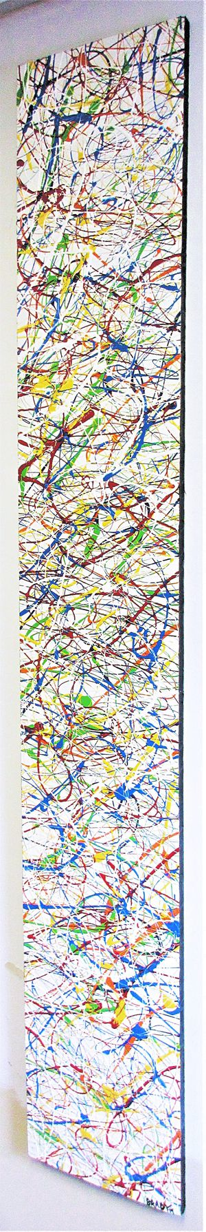 """72""""x 12"""" ORIGINAL SIGNED PAINTING. ACRYLIC ON BOARD. BRACKETS APPLIED ALLOWING PAINTING TO HANG EITHER WAY! SHIPPING IS AVAILABLE! for Sale in Cincinnati, OH"""