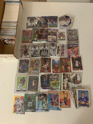 Big box filled with basketball baseball football cards jordan Lebron kobe all mixed for Sale in Fairfax, VA