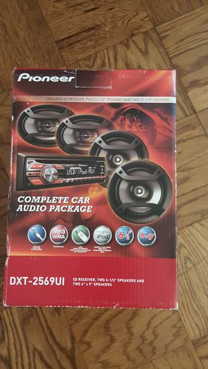 Pioneer DXT-2569UI COMPLETE CAR AUDIO PACKAGE for Sale in HOFFMAN EST, IL