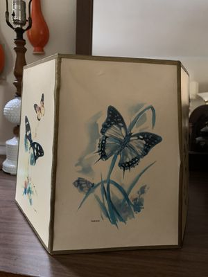 Beautiful antique lamp shade with butterflies for Sale in Cary, NC